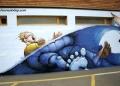 (THVL) Chile : Nhiều bức bích họa trên tường bị phá hủy do động đất